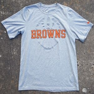 Cleveland Browns NFL Nike Shirt Grey Football S
